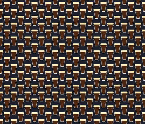 A Simple Pint of Stout fabric by seesawboomerang on Spoonflower - custom fabric