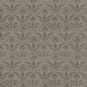 Textured Gray Grey Brown Taupe Damask Feather Floral Abstract Home Decor Grunge  _  Miss Chiff Designs