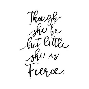 "9"" quilt block - Though she be but little, she is fierce"
