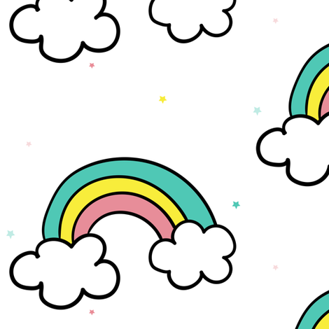 """6"""" This Is How I Roll Rainbow fabric by rebelmod on Spoonflower - custom fabric"""