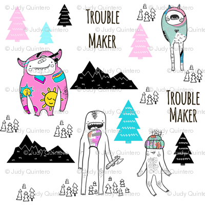 """4"""" Troublemaker - Colorful"""