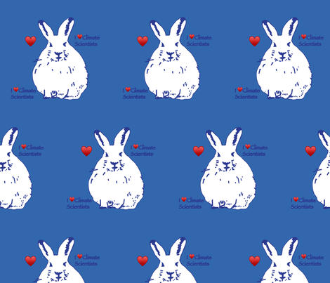 climate science Hares pantone palace blue fabric by seahouse_uk on Spoonflower - custom fabric