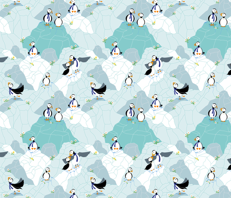 ILovePuffin fabric by edrouga on Spoonflower - custom fabric