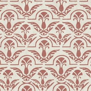 Textured Terra Cotta Orange Red Abstract Damask || Tile Home Decor Large Scale Grunge _ Miss chiff Designs