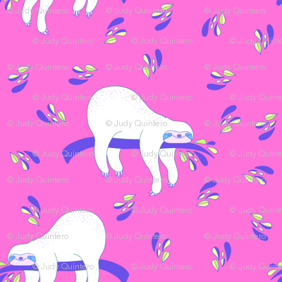 """3"""" Waiting For The Weekend Sloth - Neon Pink"""