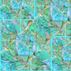 Tapestry in Aqua lighter