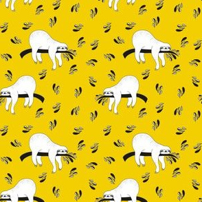 "3"" Waiting For The Weekend Sloth - Black and White Yellow"