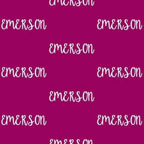 Emerson - Orchid