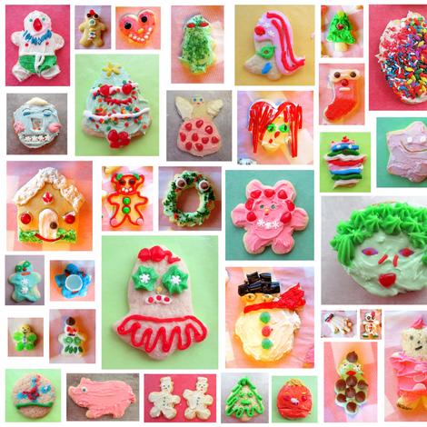 Christmas Cookies fabric by farreystudio on Spoonflower - custom fabric