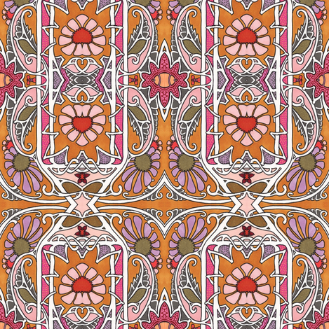 Valentine Flowers fabric by edsel2084 on Spoonflower - custom fabric