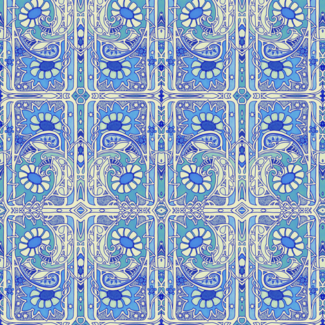 Playing the Dream Card fabric by edsel2084 on Spoonflower - custom fabric