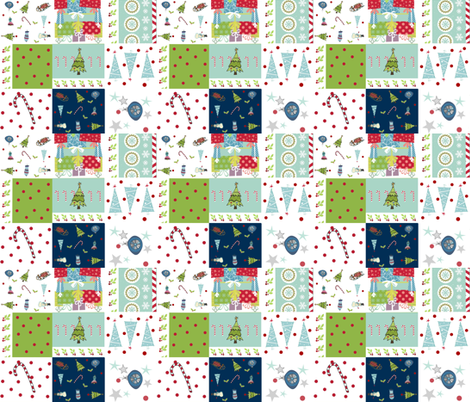 Holiday Cheer Christmas Quilt 14 Fabric Drapestudio Spoonflower