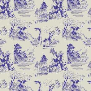 asian toile purple