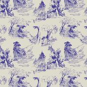 asian toile purple