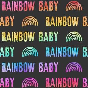 rainbow baby - grey