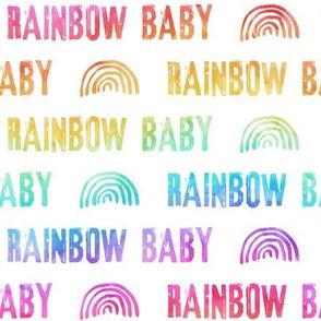 rainbow baby - white