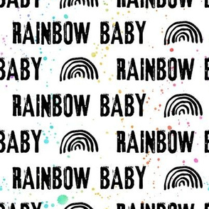 rainbow baby black with paint splatters