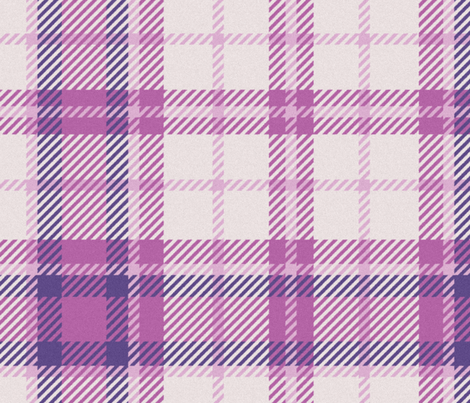 School Mixer ~ Traditional Plaid ~ Iris,  Millicent, Fairy Circle, Evangeline fabric by peacoquettedesigns on Spoonflower - custom fabric