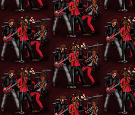Rock Band fabric by willowbirdstudio on Spoonflower - custom fabric