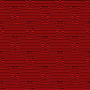 striped skulls red small