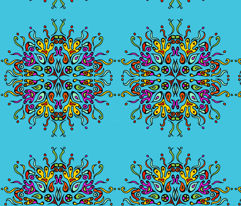 Tattoo Mandala fabric by garren on Spoonflower - custom fabric