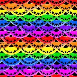 Rainbow Painted Scales on Black