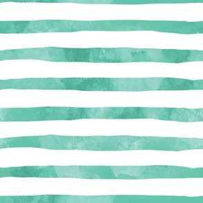 Green Watercolor Stripes