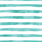 Aqua Blue Watercolor Stripes