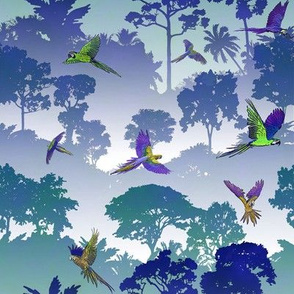 Macaw Canopy - Blue-Violet // Small