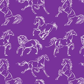 Horse Sketch // Purple