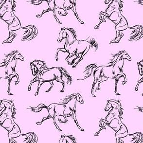Horse Sketch // Pink
