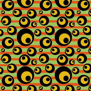 Circles and Stripes Green Orange Yellow