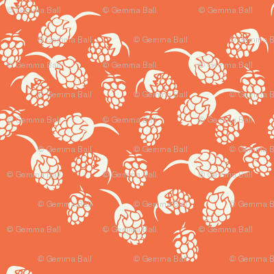 chevron blackberries on orange