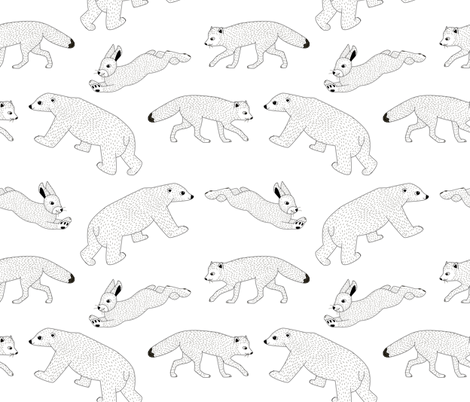 Arctic Animals fabric by helen_munch on Spoonflower - custom fabric