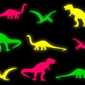 Neon Dinosaurs