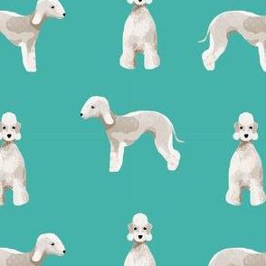 bedlington terrier dog breed pet fabric turquoise