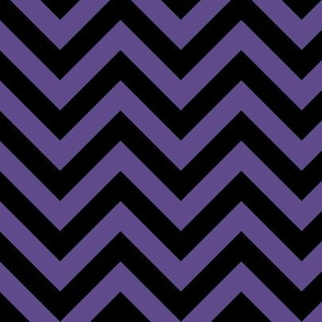 Three Inch Ultra Violet Purple and Black Chevron Stripes