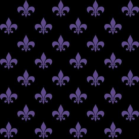 Rultra_violet_5f4b8b_black_fleur-de-lis_shop_preview