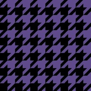 One Inch Ultra Violet Purple and Black Houndstooth Check