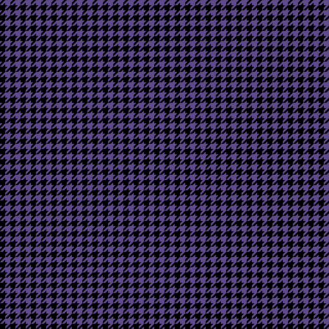 Quarter Inch Ultra Violet Purple and Black Houndstooth Check fabric by mtothefifthpower on Spoonflower - custom fabric