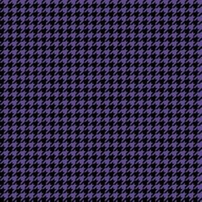 Quarter Inch Ultra Violet Purple and Black Houndstooth Check