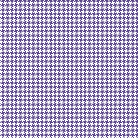 Quarter Inch Ultra Violet Purple and White Houndstooth Check fabric by mtothefifthpower on Spoonflower - custom fabric
