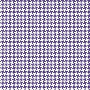 Quarter Inch Ultra Violet Purple and White Houndstooth Check