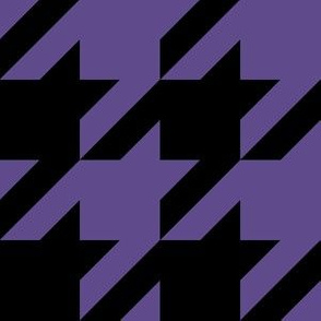 Three Inch Ultra Violet Purple and Black Houndstooth Check