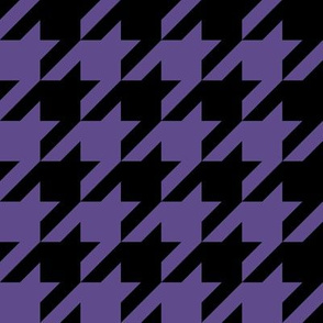 Two Inch Ultra Violet Purple and Black Houndstooth Check