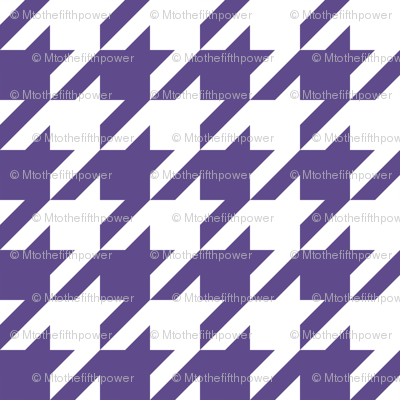Two Inch Ultra Violet Purple and White Houndstooth Check