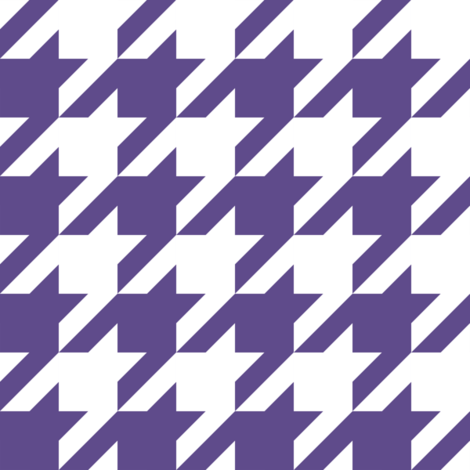 Two Inch Ultra Violet Purple and White Houndstooth Check fabric by mtothefifthpower on Spoonflower - custom fabric