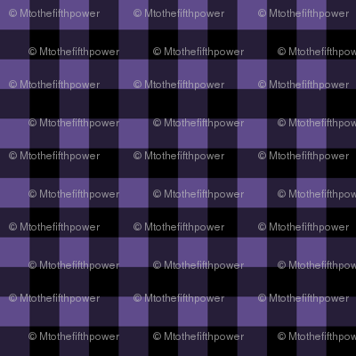 Half Inch Ultra Violet Purple and Black Gingham Check
