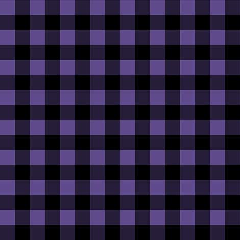 Half Inch Ultra Violet Purple and Black Gingham Check fabric by mtothefifthpower on Spoonflower - custom fabric