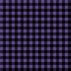 Quarter Inch Ultra Violet Purple and Black Gingham Check